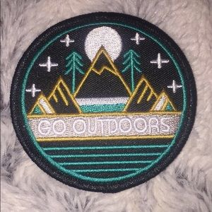 "Accessories - Iron on nature patch ""go outside"""